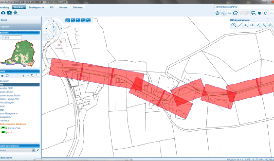 Plan-Application-Liniendruck