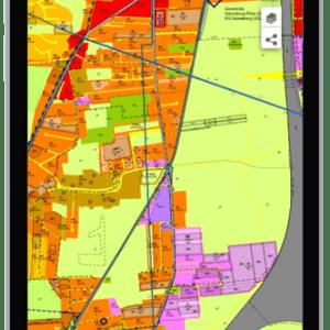 Screenshot Display Mobile Geodaten