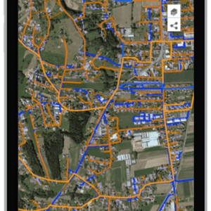 Handydisplay mit public map