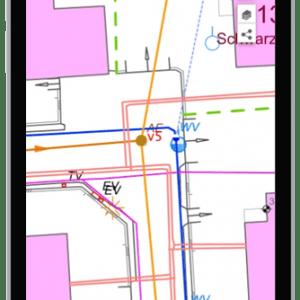 Handy mit public map