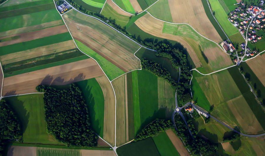 Photo Luftaufnahme Felder